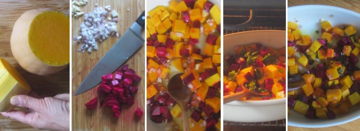 Zubereitung herbstliches Backofengemüse