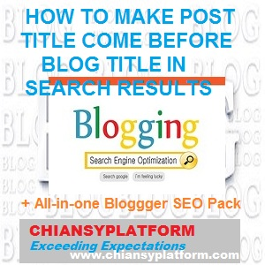 How to make post title appear before Blog title in search results