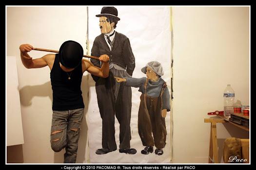 Street dessins inspiré du film the kid de Charlie Chaplin par Paco