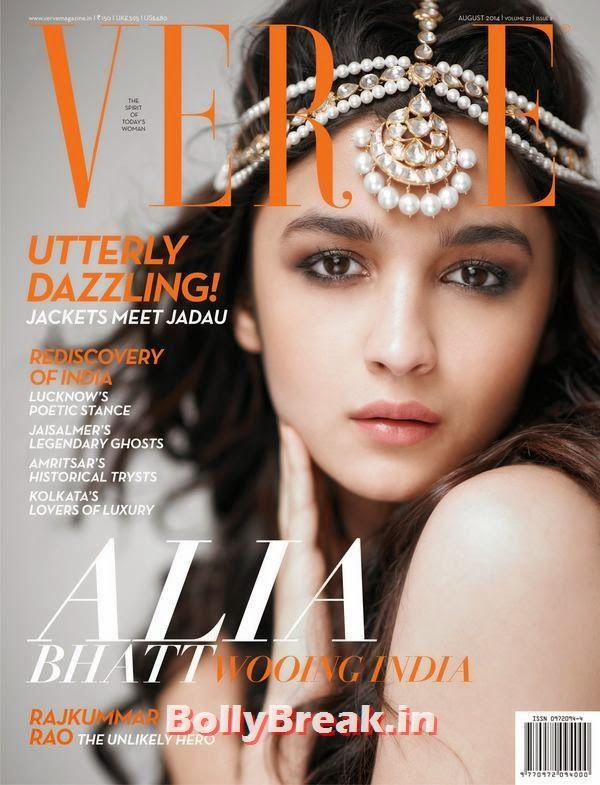 Alia Bhatt, August 2014 Indian Magazine Covers