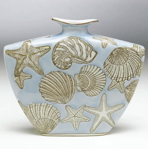 Ceramic Sea Shell Vase
