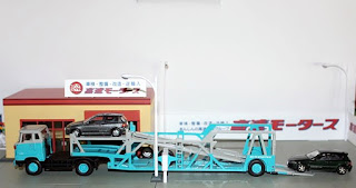 tomica limited vintage honda express transporter tractor head trailer