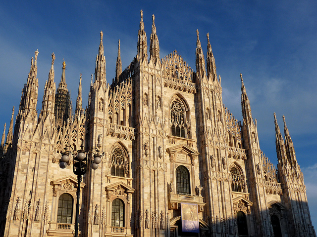 The magnificent Milan Cathedral or Duomo is the fifth largest cathedral in the world and third largest in all of Europe. Photo: Megoizzy.
