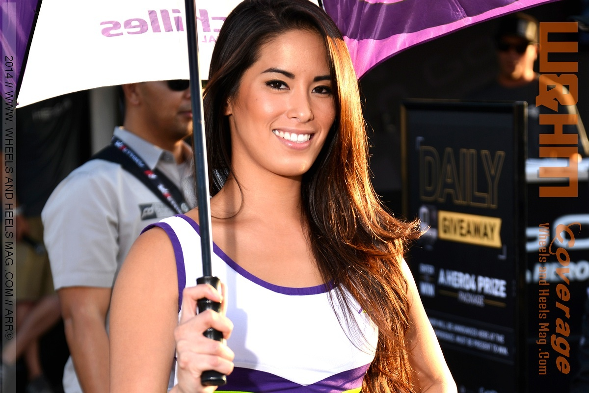 2014 Formula Drift Irwindale Model Arley Elizabeth for Achilles at the lifestyle expo vendor