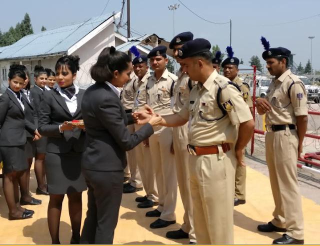 GoAir celebrates Raksha Bandhan with CRPF Jawans