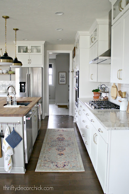 Long rug in kitchen