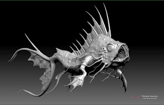 """Pierre Rouzier ZBrush - Deep Sea Creature"" - Character design & 3D model  © Pierre Rouzier"