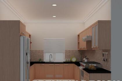 Jasa pembuatan desain Interior kitchen set dry pantry double single line