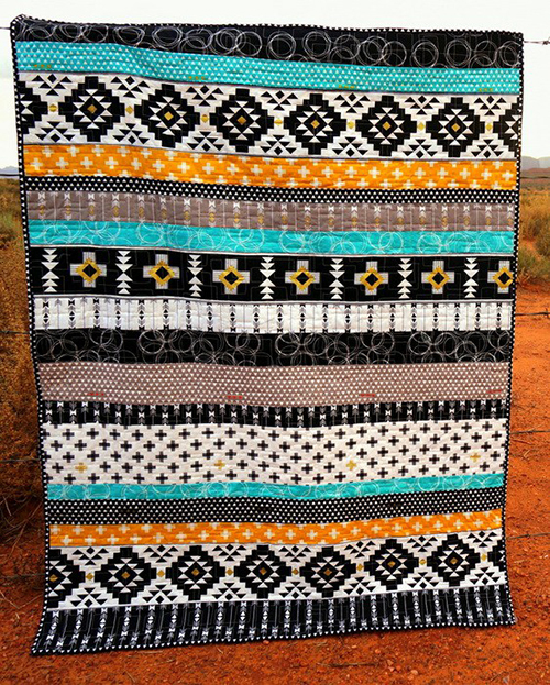 Four Corners Strip Quilt