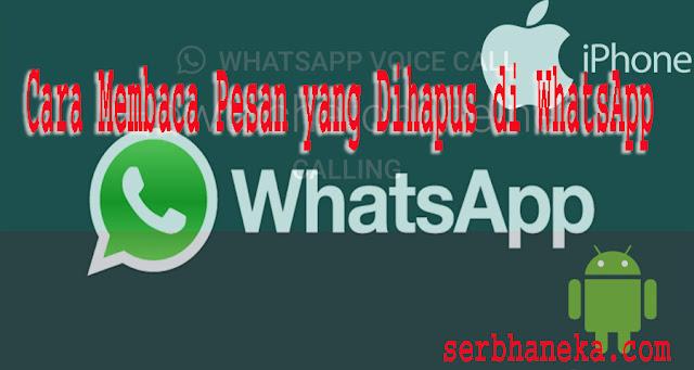 Cara Melihat Pesan Whatsapp yang Dihapus 1