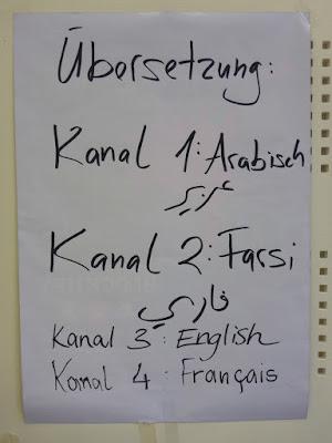 Aufteilung der Sprachen und Kanäle