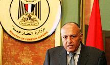 le ministre égyptien des Affaires étrangères Sameh Choukry