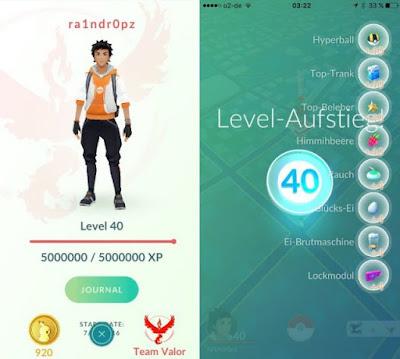 pokemon go level max