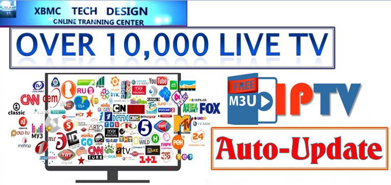 New IPTV M3u Playlist Auto-Update Every Day Download M3u IPTV For IPTV- Kodi-XBMC