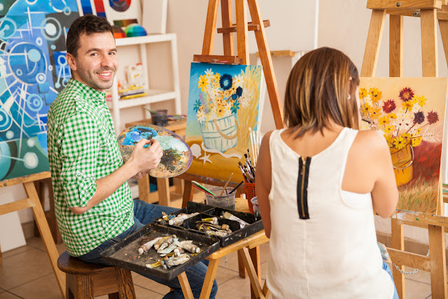 Couple Making Art to Sell Online