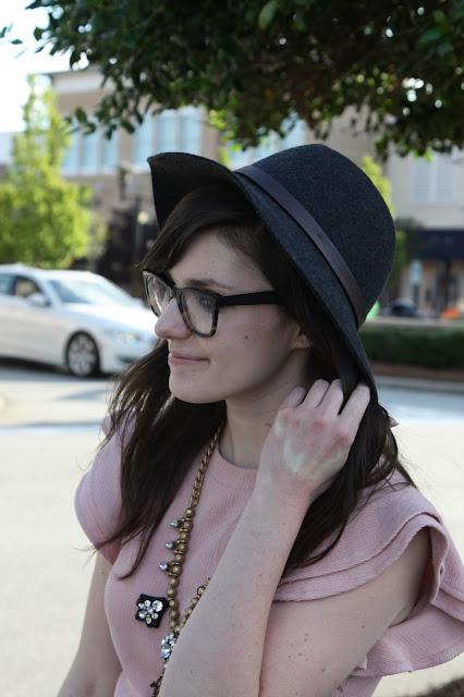 2017, OOTD, ruffles, hat, pink,
