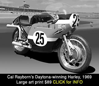 Harley Davidson 750 XRTT at Daytona 1969, large photo print for sale