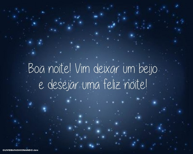 Estrela De Minas Mensagens Boa Noite: Mensagem De Boa Noite