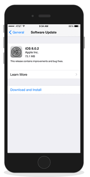 Update ke iOS terbaru