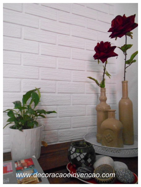 DIY - Parede de tijolinhos falsa (de isopor para forro de teto)
