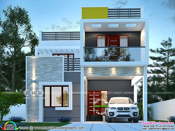cute modern decorative house rendering