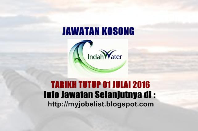 jawatan kosong di indah water konsortium (iwk)