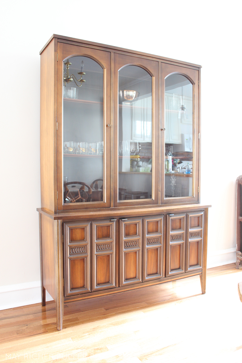 Remember That Vintage Mid Century Modern Ish China Cabinet I Picked Up A Few Weeks Ago For Song At My Favorite Second Hand Furniture Store