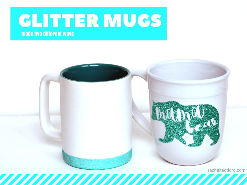 Glitter Coffee Mug Made Two Different Ways Rachel Teodoro - Vinyl cup brush