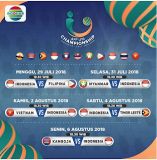 Jadwal Pertandingan Timnas Indonesia U-16 Live Indonesiar