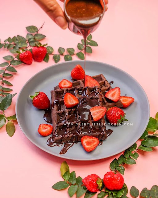 resep waffle coklat