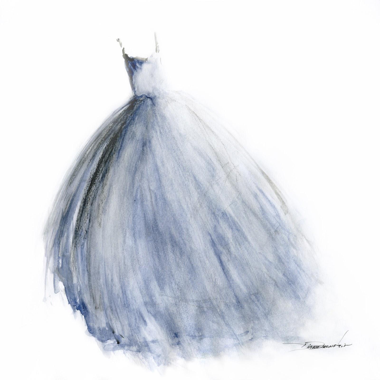 Wedding Dress Paintings By Diane Bronstein