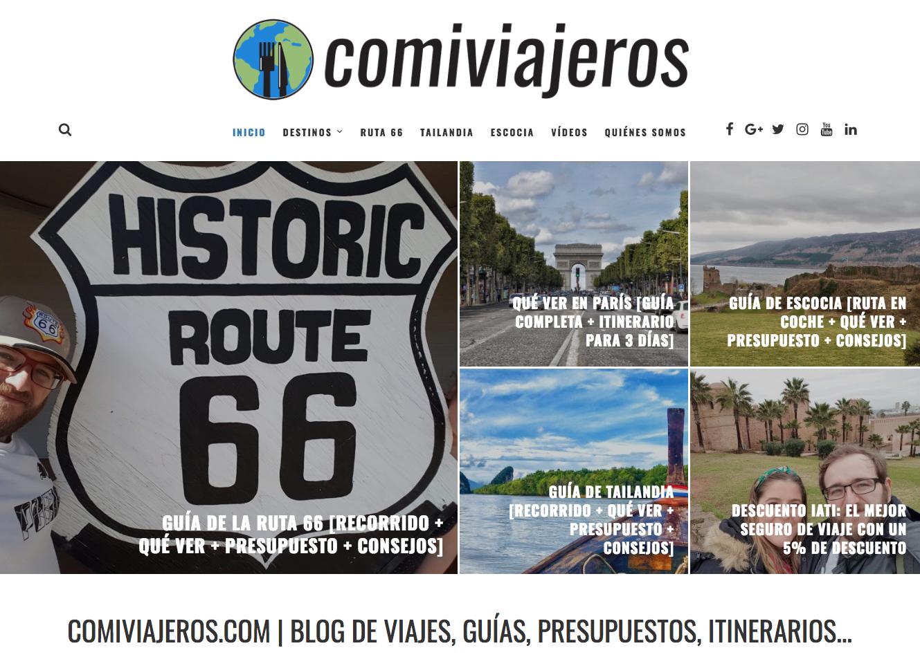 CHUSAYinka TravelBlog: Blogs que inspiran: COMIVIAJEROS