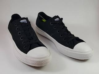 Sepatu Converse Chuck Taylor II Premium Black Low, jual  converse ct 2, harga converse ct 2 premium, converse terbaru, converse lunarlon, converse basket