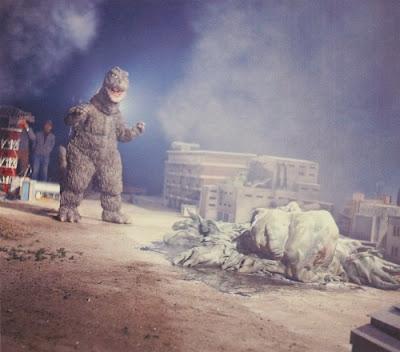 Godzilla vs Hedorah detrás de las cámaras
