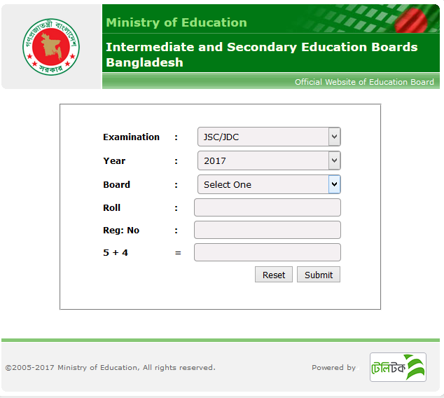 How to Check JSC Result 2018