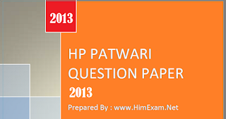 hp patwari 2013 question paper