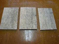 樫の木を切り分ける