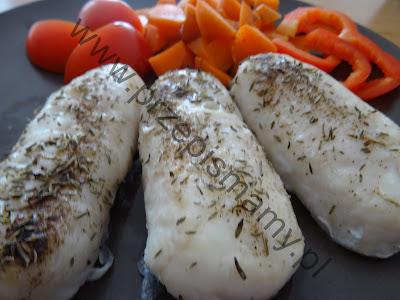 Pieczone paluszki rybne