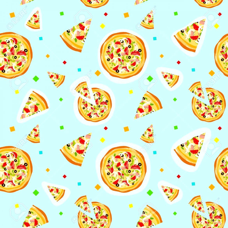 Pizza Tile Wallpaper Hd Wallpapers