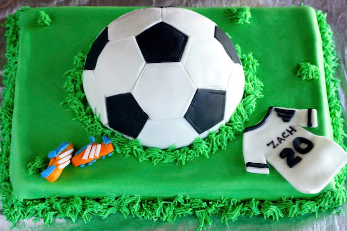 Soccer Ball Edible Sugar Decorations Glamorous Blessings From My Kitchen Chocolatevanilla Marble Cake And A Inspiration Design