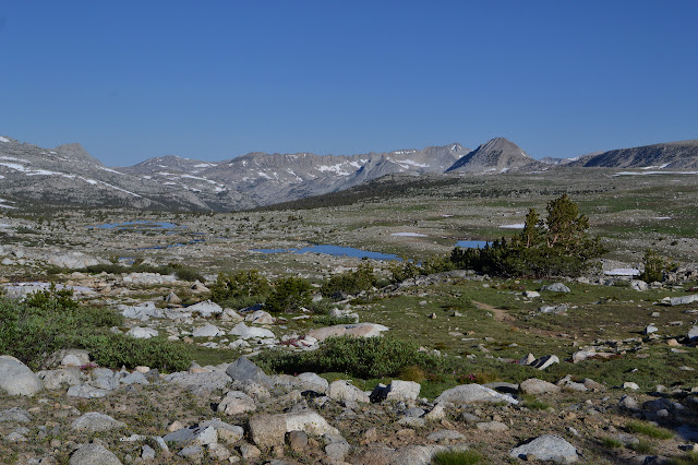 Humphreys Basin with plenty of lakes