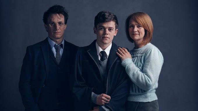 Cursed Child revela o primeiro olhar em Harry, Gina e Alvo Potter.