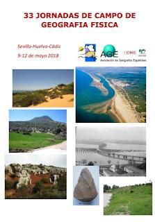 Evento: 33 Jornadas de Campo de Geografía Física. Sevilla-Huelva-Cádiz 9/12 Mayo 2018