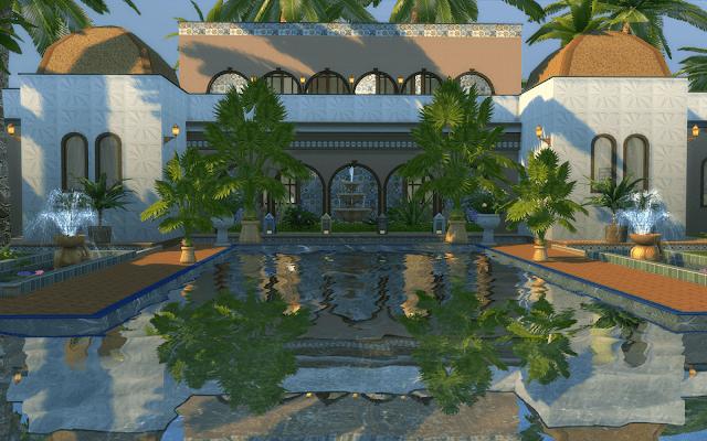 villa luxe sims 4