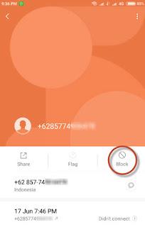 blockir telepon di hp android