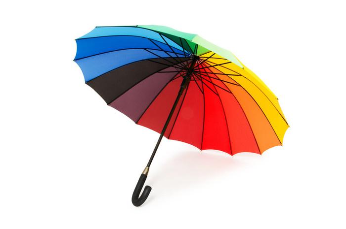Colorful Umbrella Rainbow Design Colorful Background ...