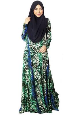 Model Gamis Batik Pesta muslim