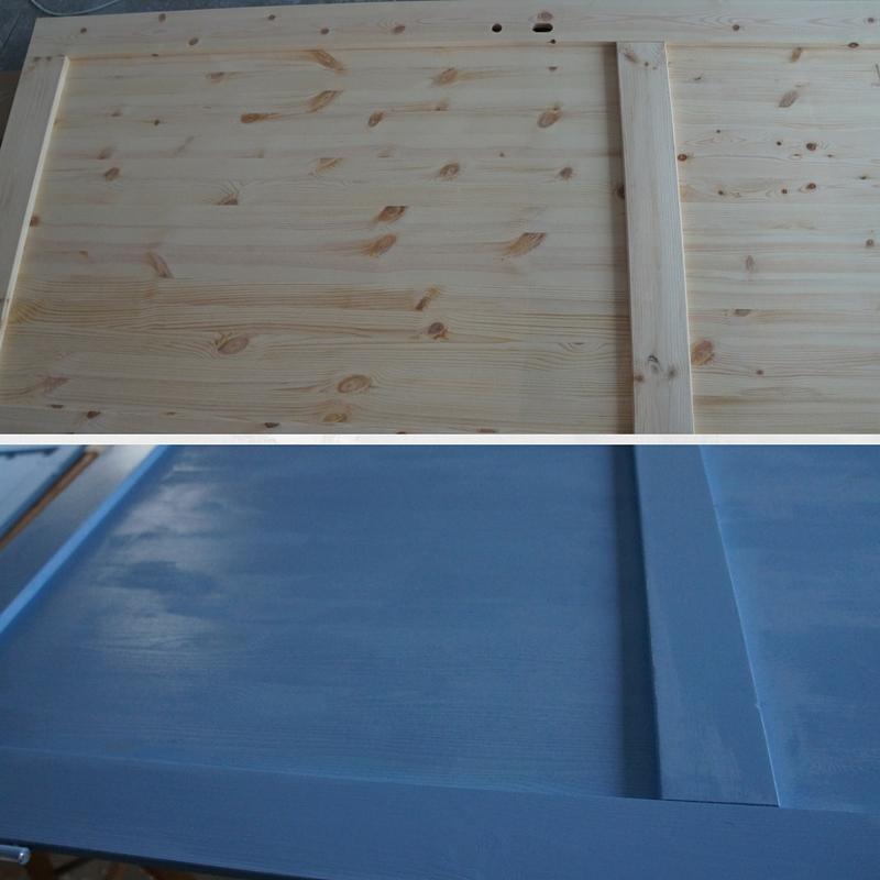 niebieskie drzwi, blue door, jak pomalować drzwi