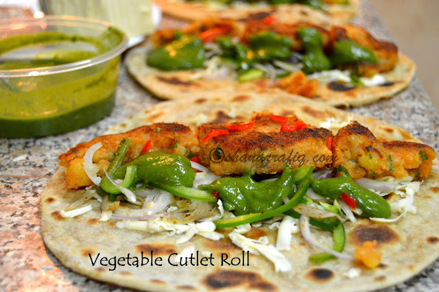 Vegetable Cutlet Roll