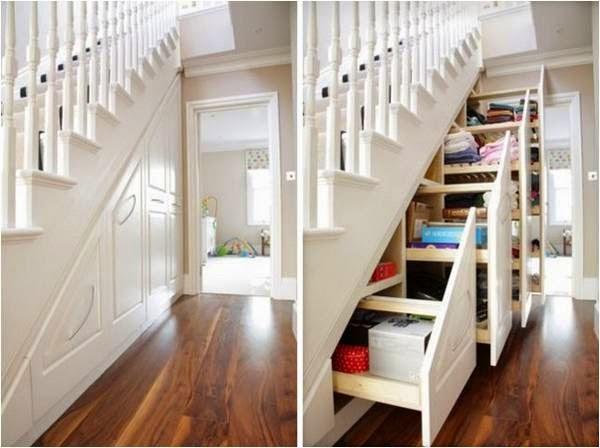 10 ideas para usar el espacio bajo la escalera colores for Soluciones bajo escalera
